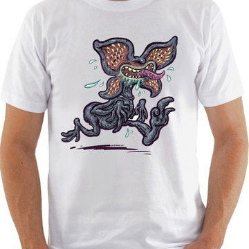 Camiseta Camisa Stranger Things / Demogorgon Pequeno