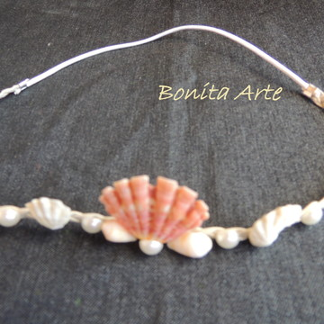 Tiaras Headband com conchas