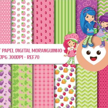 Kit Papel Digital Imagem Morango Moranguinho mod70