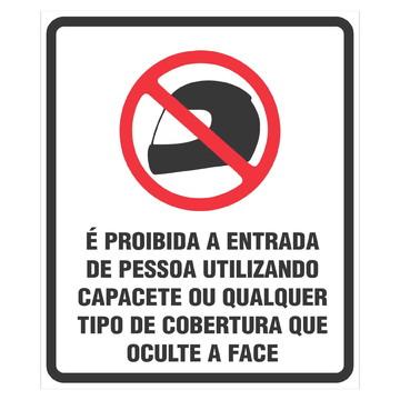 Adesivo Proibido entrada de capacete 16,5x19,5 a135
