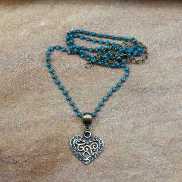 Gargantilha coração ouro velho bijuterias acessorios da moda