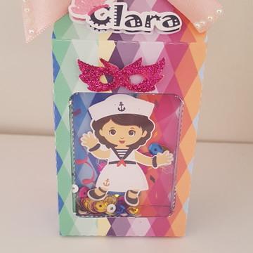 Caixa Milk com visor Bloquinho de Carnaval