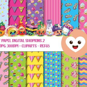 Kit Papel Digital Imagem Shopkins 2 Frutinhas mod65