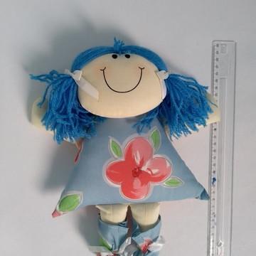 Boneca de pano Linda - Azul