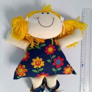 Boneca De Pano Linda - Amarela