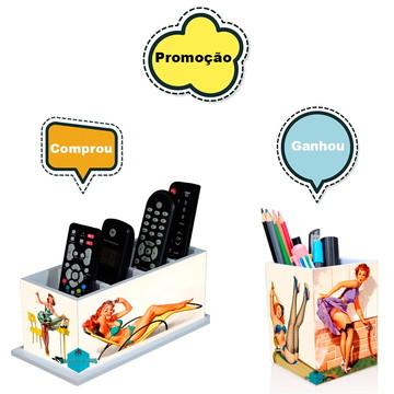 Porta Controle Remoto Pin-up + Porta Treco Gratis