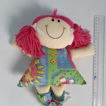 Boneca De Pano Linda - Pink