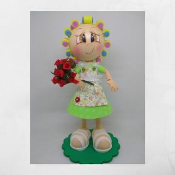 Boneca Dona Florinda em e.v.a ( Turma do Chaves )