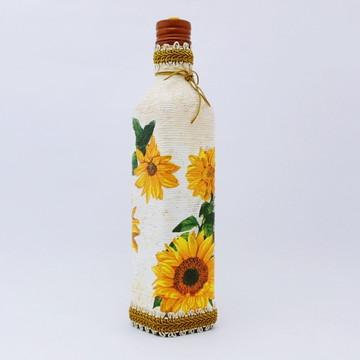 Garrafa de Vidro (Flor/Girassol)