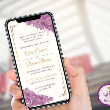 Convite Digital Casamento - Lavanda