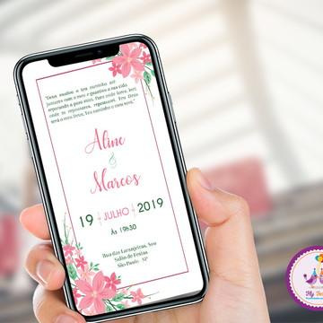 Convite Digital Casamento - Delicado