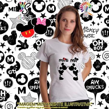 Baby look Feminina Mrs. Mickey e Mr. Minie