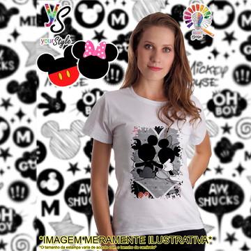 Baby look Feminina Mickey e Minie In Love