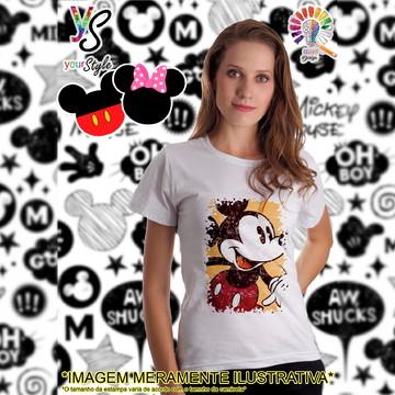 Baby look Feminina Mickey Mouse