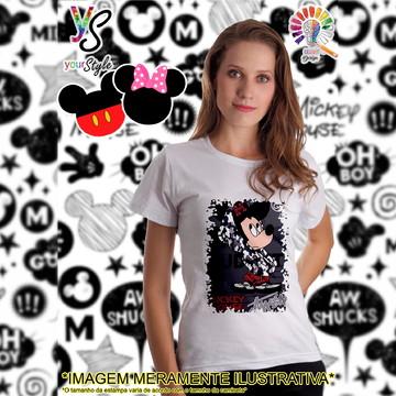 Baby look Feminina Mickey Mouse capuz