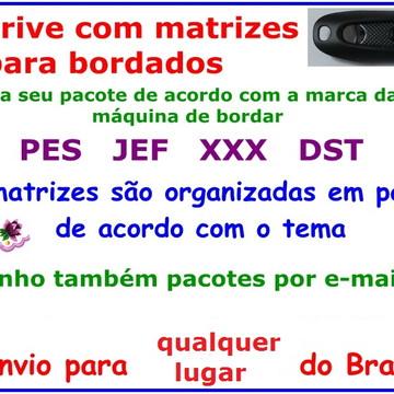 Matrizes Bordado DST 63 Mil Matrizes + EMBIRD 2015 Pendrive