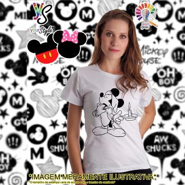 Baby look Feminina Mickey Mouse sonolento