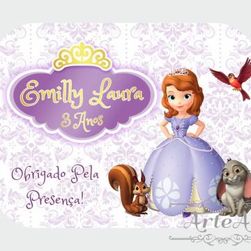 Adesivo Rótulo para Mamitinha Lembrancinha Princesa Sofia