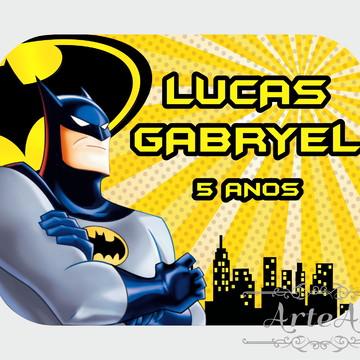 Adesivo Rótulo para Mamitinha Lembrancinha Batman