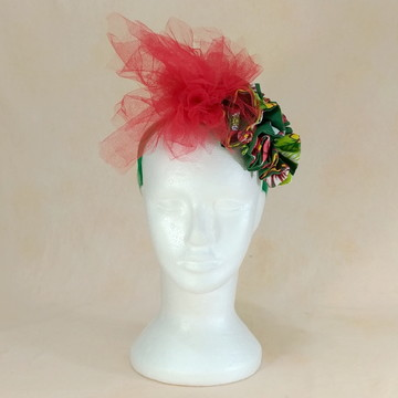 Acessório de Carnaval 2019_084_Chita verde tule vermelho