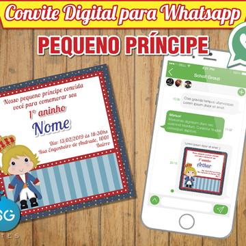 Convite Digital para Whatsapp - Pequeno Príncípe