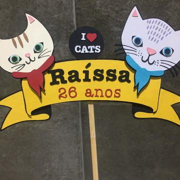 Topo de Bolo - Gatos