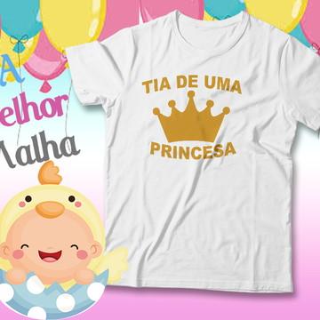 84c0333737 Camiseta Chá de Bebê Coroa