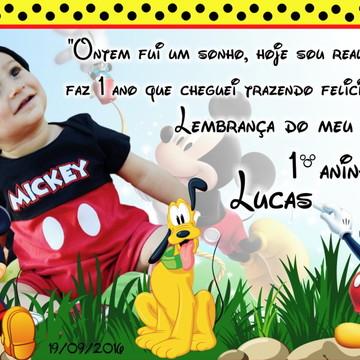 Foto Imã Personalizado - Mickey Foto Lembrança - Lembranças