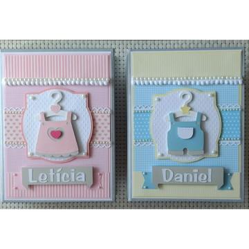 kit Álbuns Personalizados fotos bebês gêmeos scrapbook