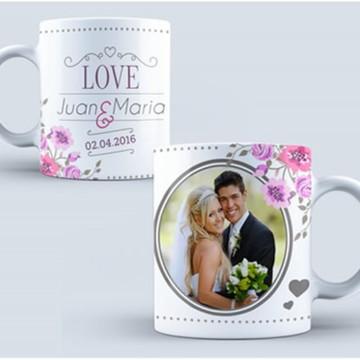 Kit para Sublimação de Canecas - Casamento e Noivado