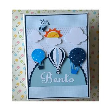 Álbum Personalizado fotos menino scrapbook balões