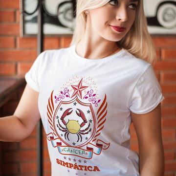 Camiseta Signos Câncer Personalizada Signo De Câncer