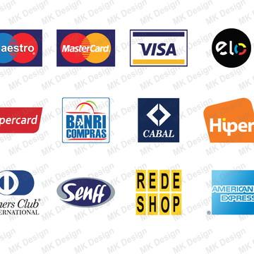 Bandeiras de cartões vetorizadas