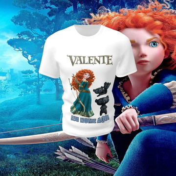 Camiseta Camisa Blusa Disney Valente