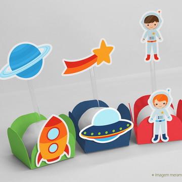Kit Forminha Com Topper Astronauta