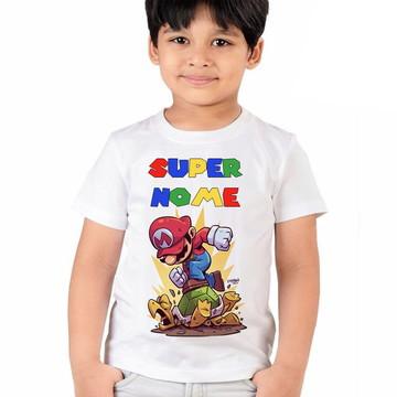Camiseta Mario Bros Aniversario Infantil