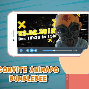 Convite Animado Bumblebee