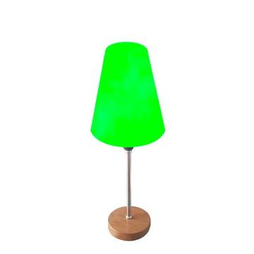 Abajur De Mesa 40cm Md1018 Cúpula Cônica Verde Claro