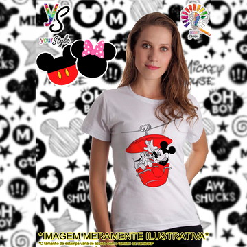 Baby look Feminina Mickey e Pluto