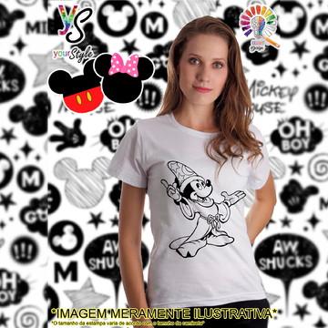 Baby look Feminina Mickey Mouse mago