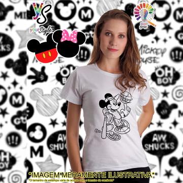 Baby look Feminina Mickey Mouse basquete
