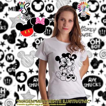 Baby look Feminina Mickey e Minie