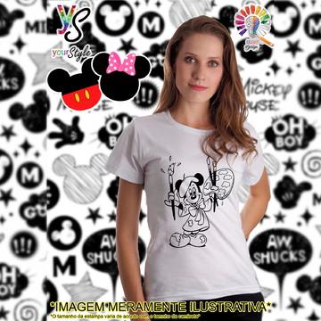 Baby look Feminina Mickey Mouse Pintor