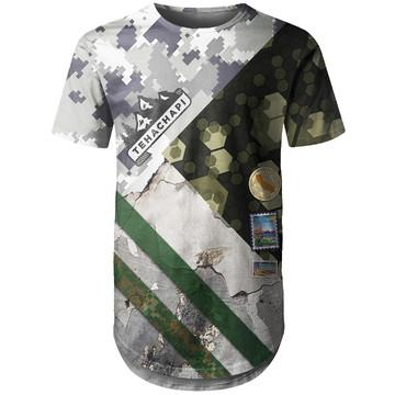 Camiseta Longline Masculina Camuflada Mista Md02
