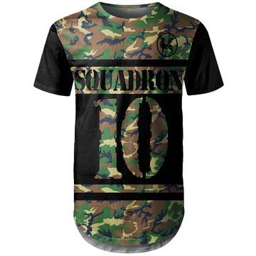 Camiseta Longline Masculina Camuflada Squadron Md01