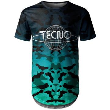 Camiseta Longline Masculina Camuflada Tecno Md05