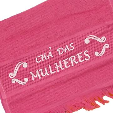 Toalhinha Personalizada Com Frase Chá Das Mulheres