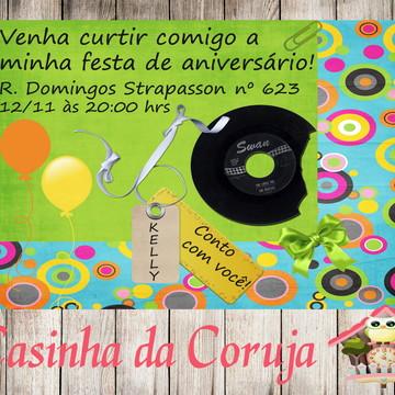 Convite Digital Anos 80 Vintage
