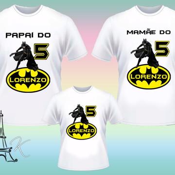 Kit 3 Camisetas Personalizadas Batman