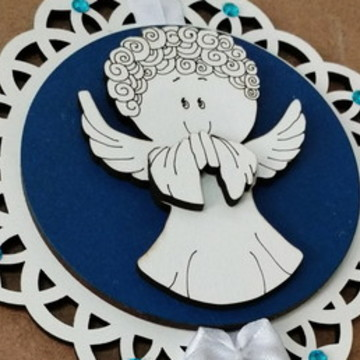 Adorno para porta ou berço - Santo Anjo Modelo 1